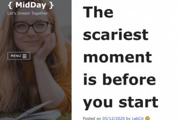 MidDay – Free Responsive WordPress Blog Theme