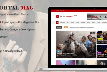 New Portal Mag – Free News & Magazine Website WordPress Theme