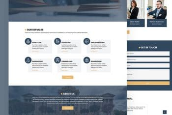 Octort – Free Law Firm HTML Template