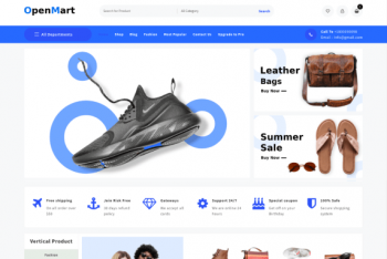 Open Mart – Ecommerce WordPress Theme for Free