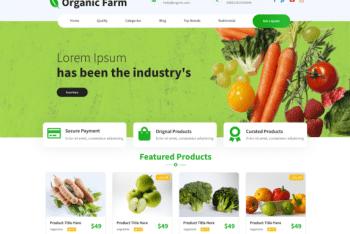 Organic Farm – Free Environment Website WordPress Theme