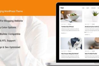 Saaya – Free Creative WordPress Blog Theme