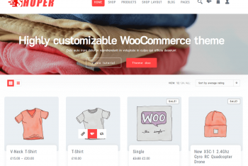 Shoper – Free WordPress Ecommerce Store Theme