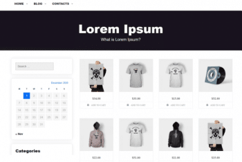 Shops – HTML5 WordPress Theme for Free