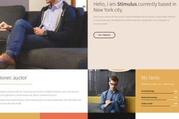 Stimulus – Free HTML Resume Template