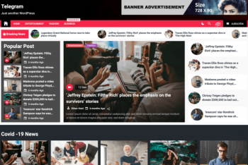 Telegram – Free News & Magazine WordPress Theme