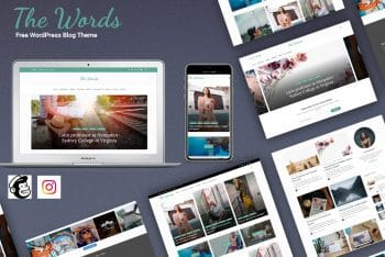 The Words – WordPress Blog Theme for Free