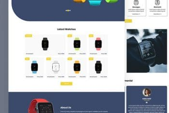 Timups – Free Smart Watch Ecommerce Website WordPress Theme
