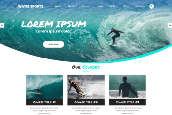 Water Sports Club – SEO-friendly WordPress Theme for Sports-oriented Websites