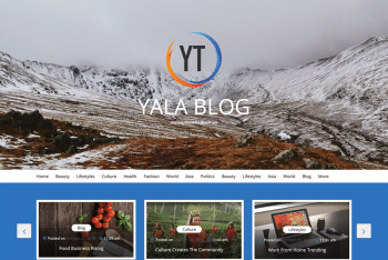 Yala Blog – A Free WordPress Blog Theme
