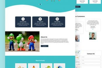 Zoutoys – A Free Toy Website HTML Template