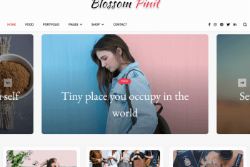 Blossom PinIt – Free WordPress Blog Theme