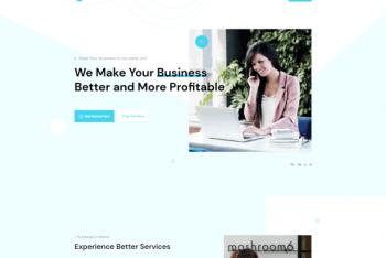 Deep Modern Business – Free WordPress Theme for Novice Users & Beginners