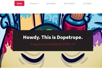 Dopetrope – Free Responsive HTML Template