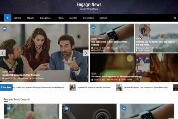 Eagle Mag – News Website WordPress Theme for Free