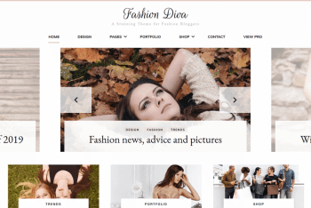 Fashion Diva – Free Fashion Blog WordPress Theme