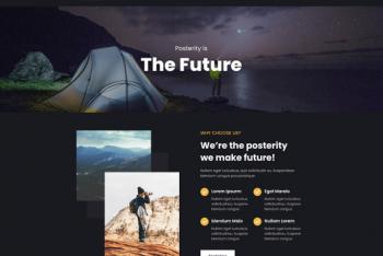 Posterity Dark – A Free WordPress Theme