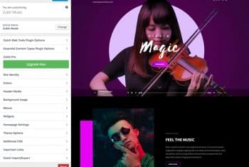 Zubin Music – Free Music WordPress Theme