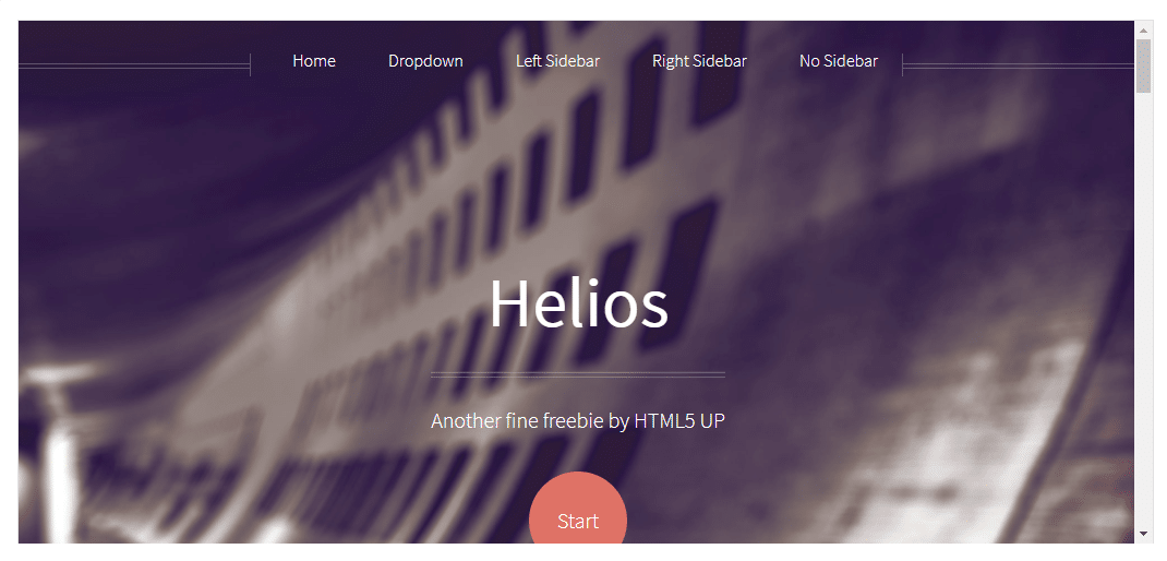 Helios - free HTML template