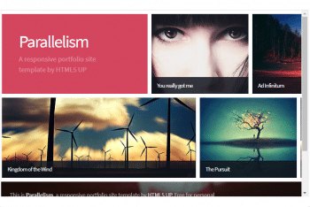 Parallelism – Fully Responsive HTML Template (Free Download)
