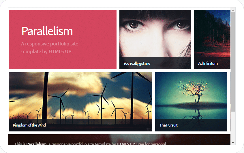 Parallelism - fully responsive HTML template