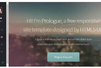 Prologue – A Minimal HTML Template
