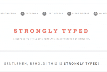 Strongly Typed – Clean HTML Template (Free Download)