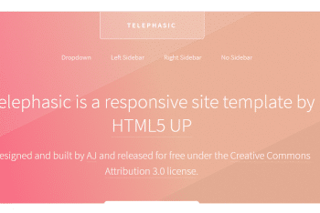 Telephasic – Lightweight HTML Template