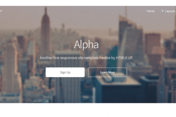 Alpha – HTML Template for Your Next Project