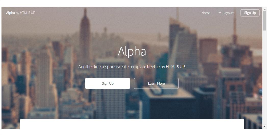 Alpha - HTML Template