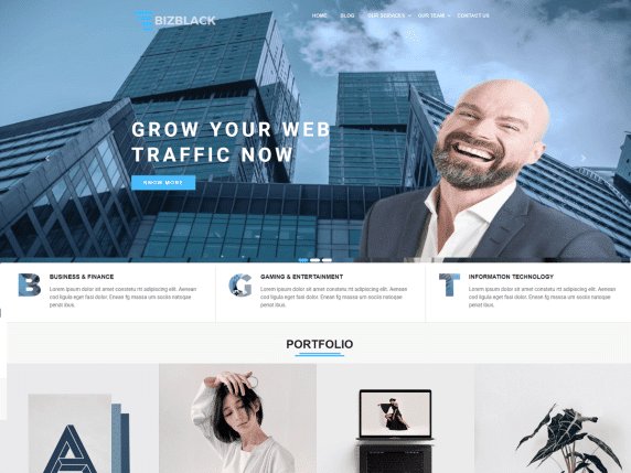 Bizblack - minimal WordPress theme