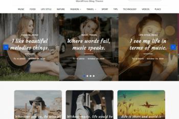 Blog Melody – WordPress Theme for Blog Websites