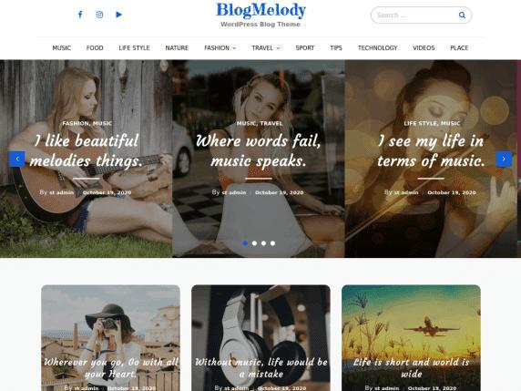 Blog Melody - WordPress Theme
