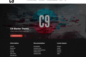C9 Starter – Free WordPress Theme Download