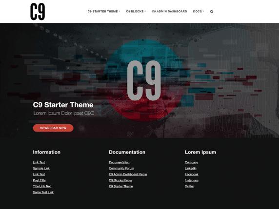 C9 Starter - free WordPress theme