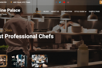 Cuisine Palace – Free WordPress Theme for Food Related Websites