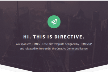 Directive – Fully Responsive HTML Template