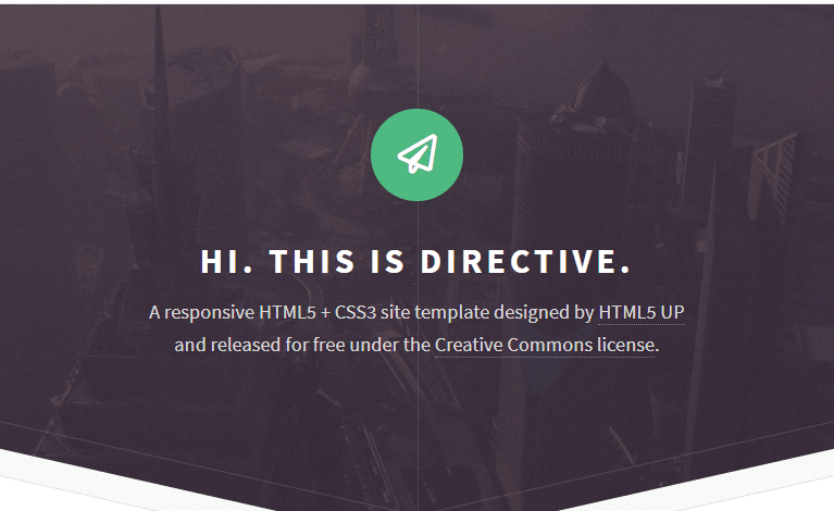 Directive - fully responsive HTML template