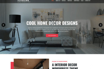 Fly Decor – Minimal WordPress Theme For Your Next Project