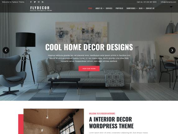 Fly Decor - Minimal WordPress Theme