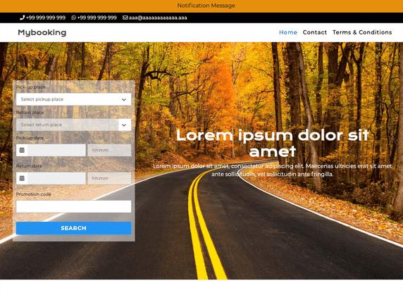 Mybooking - minimal WordPress theme