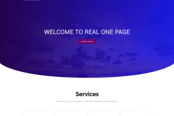 Real Onepage – Free WordPress for Your Next Project