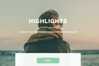 Highlights – Fully Responsive Single Page HTML Template for Free