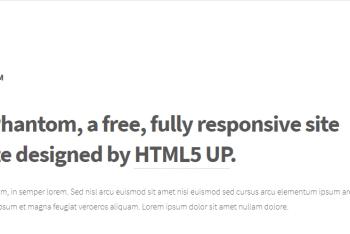 Phantom – Free Responsive HTML Template